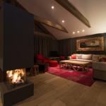 Akatsuki Niseko Chalet Hirafu Living Fireplace2