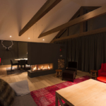 Akatsuki Niseko Chalet Hirafu Living Fireplace