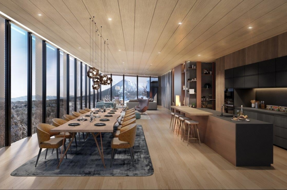 Penthouse A Dining And Kitchen